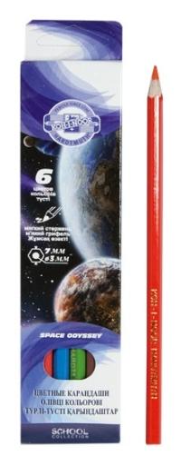Карандаши 6 цв Космос карт.короб 3651